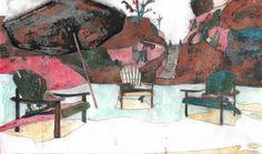 Léon SOJAC / NH=SOJ (Extrait 20/26) - Peinture,  25x15 cm ©2016 par Le Frigo (GONIN SOJAC) -                                            Art figuratif, Papier, gonin, sojac, le frigo