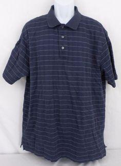 Jos A Bank Leadbetter Golf XXL Cotton Blend Short Sleeve Striped Polo Mens Shirt #JosABank #PoloRugby