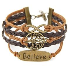 Stylish Tree of Life Braided Bracelet ($1.79) ❤ liked on Polyvore featuring jewelry, bracelets, woven bracelet, braided bracelet, macrame bracelet and brown jewelry