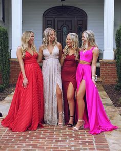 We love a good prom moment Stunning Spaghetti Straps Long Prom Dress Sleeveless Red Evening Dress Prom Pictures Couples, Homecoming Pictures, Prom Couples, Prom Photos, Prom Pics, Homecoming Poses, Cute Prom Dresses, Dance Dresses, Homecoming Dresses Long