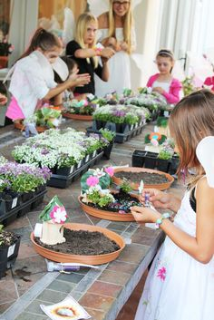 Mini Fairy Garden Birthday Party Ideas via @Catch My Party