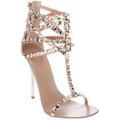 Beautiful & sexy nude high heel #crystals #sparkle
