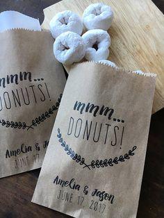 Donut Favor Bags Doughnut To Go Take Home Bags Wedding