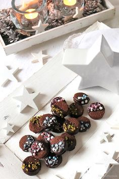 ESPRESSO CHOCOLATE COOKIES: For my taste, the vegan cookies are an absolute hit. Fall Desserts, Christmas Desserts, Christmas Baking, Cookies Healthy, Healthy Cookie Recipes, Chocolate Espresso, Vegan Christmas, Vegan Sweets, Chocolate Cookies