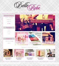 minimalis elegant fashion ecommerce blog web design by kupuungu.deviantart.com