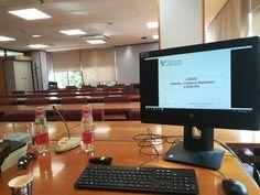 Perspectiva desde el puesto de profesor, mientras esperaba a mis alumnos de la II Edición del Curso Monográfico: LSSICE. Servicios de la Sociedad de la Información.