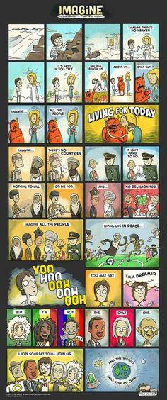 John Lennon's Imagine Comic Book Print