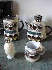 Owl Coffee & Tea Cozies - Electronic Download