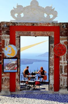Palia Kameni Cafe, Fira, Santorini , Greece