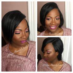 #softglam #nudelips #plumeyemakeup #highlight #contour #weddingmakeup #glowing #mattelips  #makeupforwomenofcolor