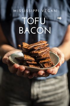 For this tofu bacon we are trying to recreate the experience of eating bacon. That makes me think of chewy, crispy, salty, and fatty- all at once. Tofu Recipes, Bacon Recipes, Skinny Recipes, Healthy Dishes, Healthy Snacks, Healthy Eating, Bacon Tofu, Bacon Seasoning, My Favorite Food