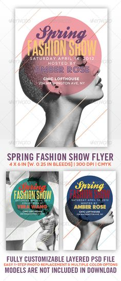 Spring Fashion Show Flyer - Clubs & Parties Events