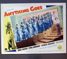 ANYTHING GOES (1936) Bing Crosby/Ethel Merman/Cole Porter music lobby card J026 in Entertainment Memorabilia, Movie Memorabilia, Lobby Cards | eBay