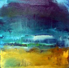 """Light coming through"" Acrylic on canvas. 60 cm x 60 cm by Pauline Agnew"