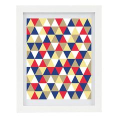 Geometric Triangles Art Print Modern Home by ColourscapePrints