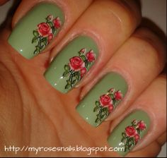 Red roses water decals