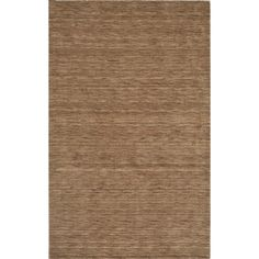 Tonal Solid 100% Wool Area Rug - Taupe (Brown) (5'x7'6)