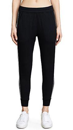 Women's Slide Pants, Black/Off White, X-Small Autumn Fashion Casual, Off White, Sweatpants, Black, Black People