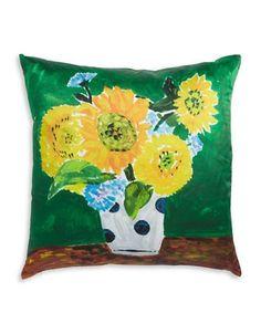 Kate Spade New York Sunflower Vase Pillow Women's Multi