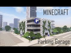 Minecraft Modern City Parking Garage + Download - YouTube Minecraft Mods, Minecraft Modern City, Minecraft Skyscraper, Minecraft City Buildings, Minecraft Mansion, Minecraft Plans, Minecraft Tutorial, Minecraft Architecture, Minecraft Blueprints