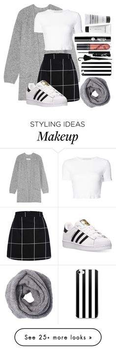 """""""Just a day"""" by gold-sands on Polyvore featuring By Malene Birger, Rosetta Getty, adidas, Charlotte Russe, Context and Pirette"""