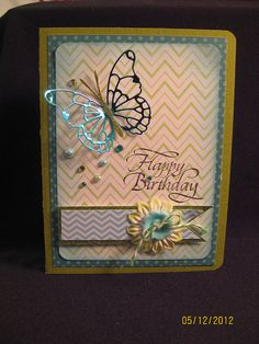 Butterfly birthday by Craftin' Judy, via Flickr  Great colour on vivienne butterfly