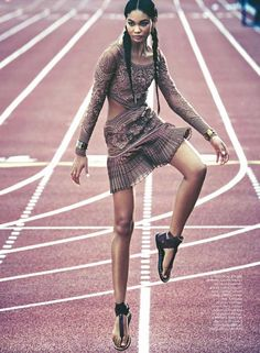 """""""Pretty Powerful"""" Chanel Iman by James Macari for Marie Claire UK May 2015"""