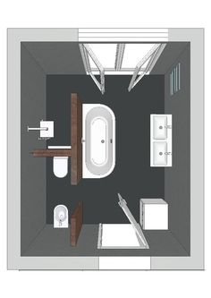 Regardless of the type of bathroom layout design you choose, it is always important to stick with the basic necessities. The amount of space you want Bathroom Plans, Bathroom Bath, Small Bathroom, Master Bathroom, Bath Room, Master Bath Layout, Bathroom Modern, Bathroom Toilets, Bathroom Cabinets