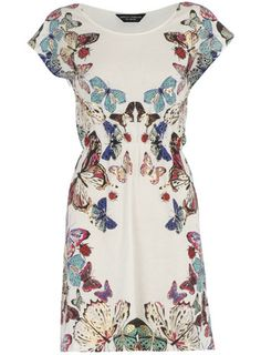 Dorothy Perkins Cream butterfly print #dress £26.00