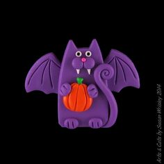 """NEW: Look for Arts Cats on Facebook and """"like"""" my page...if you'd like, that is! This great pin is hand made by me, Susan Wrisley, out of custom blended polymer clay."""