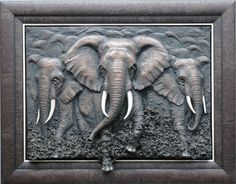 Bill Mack has no mentors. There is nowhere to go to learn his sculpture techniques. No one teaches his sculpture technique Art Mural 3d, 3d Art, Mural Painting, Wall Murals, Clay Wall Art, 3d Wall Art, Art Sculpture, Sculptures, Feuille Aluminium Art