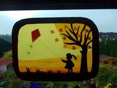 Kinderzimmerdekoration - Waldorf Transparentbild Herbst,Jahreszeitentisch - ein Designerstück von Puppenprofi bei DaWanda