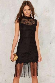 Keep Your Fringe Close Mini Dress