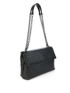Olympia intrecciato leather shoulder bag | Bottega Veneta | MATCHESFASHION.COM UK | #MATCHESFASHION