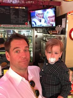Michael Weatherly and son Liam