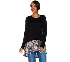 Add flair to your everyday style with this LOGO by Lori Goldstein top. QVC.com