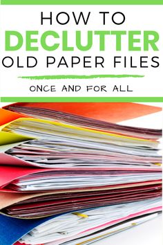 Are you overwhelmed by old files? Here are some tips that can help make purging your old papers easier. #paperdecluttering