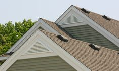 Attic vents serve a specific purpose year round. There are different types of attic vents that are designed to be used with different types of roofs. House Vents, Roof Design, House Design, Farmhouse Exterior Colors, Attic Vents, Craftsman Remodel, Gable Vents, Gable House, Color Schemes Design
