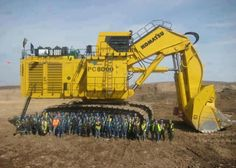 KOMATSU PC8000 WORLD BIGGEST HYDRAULIC EXCAVATOR. | See More Pictures