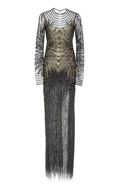Sequin Embroidered Illusion Gown by NAEEM KHAN for Preorder on Moda Operandi