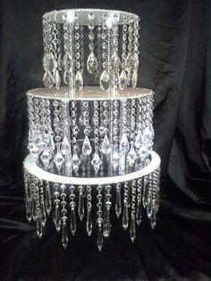 Round chandelier-like stand