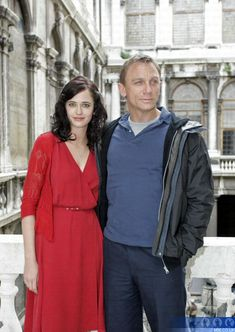 Eva Green (Vesper Lynd) Casino Royale 2006 red sleeveless wrap dress with red lace cardigan