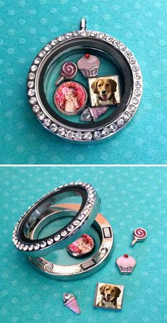 6 Pack Mini Photo Charms For Floating In Your Glass Locket