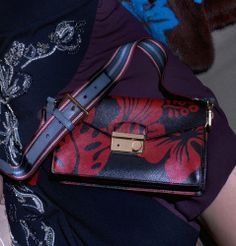 Prada Black & Red Hibiscus Print Purse Resort Spring 2014 Collection.  Fore more pop art inspired pieces please visit: bonconseil.us