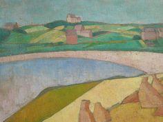 BERNARD Emile,1891 - Moisson au Bord de la Mer - Detail 03 -   « Faire une peinture d'idées au rebours de la peinture naturaliste des impressionnistes, non par contradiction, mais par besoin de mon esprit… Comment représenter les choses ? ma réponse me parut simple. Puisque l'idée est la forme des choses recueillies par l'imagination, il fallait peindre, non plus devant la chose mais en la reprenant dans l'imagination qui l'avait recueillie, qui en conservait l'idée. » (Emile Bernard)