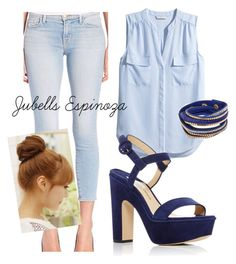 """Outfit #107"" by jubells-espinoza on Polyvore featuring H&M, Paul Andrew, J Brand and Pin Show"
