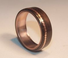 Wooden Rings - Bentwood Copper and Eucalyptus Inlay Rings - Mens Wood Rings, Womens Wood Rings, Wood Engagement Rings, Wood Wedding Bands on Etsy, €39,63
