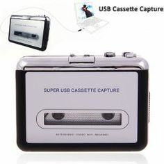 $18.07 Portable Super USB Cassette Capture Convert Tapes to CD/MP3 (Black with Silver)