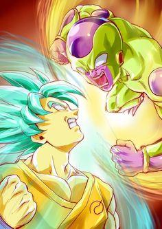 Son Gokū SSJB vs. Golden Freeza - Dragon Ball Z: Resurrection 'F'