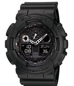 G-Shock Men's Black Resin Strap Watch GA100-1A1 100% Authentic https://www.facebook.com/yourwishbowl #gshockph #gshockforsale